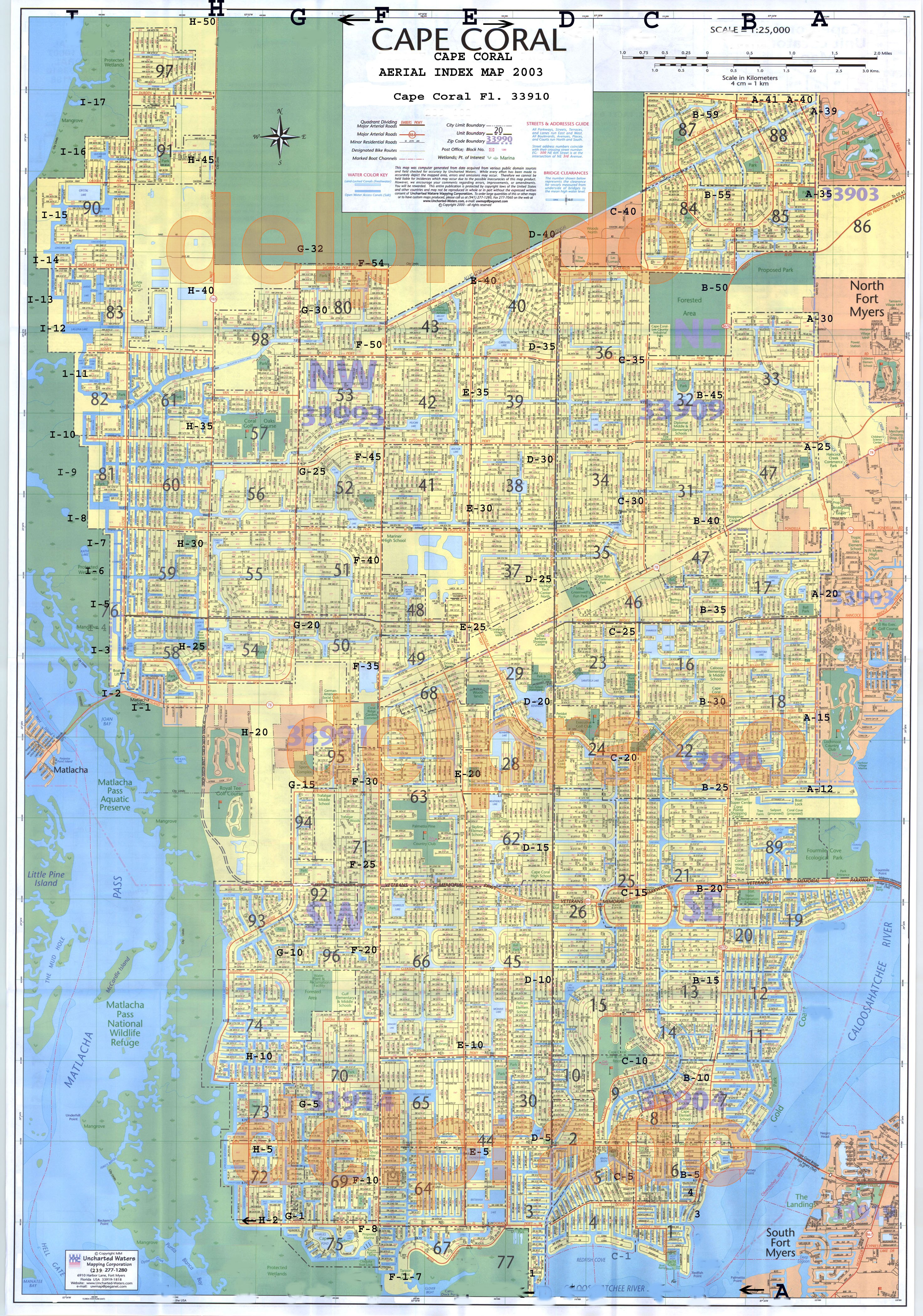 Cape Coral Map My Blog - Florida map cape coral